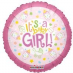 "BABY GIRL BALLOON  18""  19172-18"